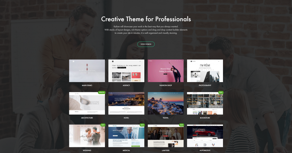 Top Minimal Portfolio WordPress Theme